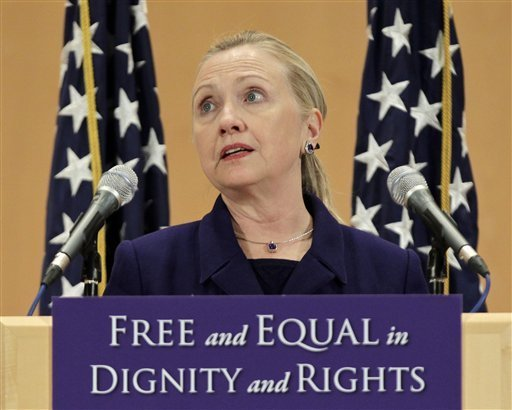 Hillary Clinton speaks to homosexual activist group. Her husband appointed pro-gay federal judges.