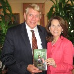Congresswoman Michele Bachmann and GING-PAC Chairman William J. Murray.