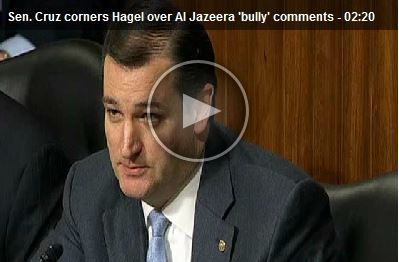 Senator Ted Cruz at Chuck Hagel hearing