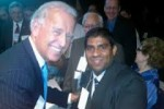 Million Muslim March organizer Alam is shown here with his Democrat buddy VP Biden.