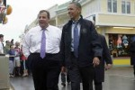 NJ Governor Chris Christie and his BFF Barack Obama.