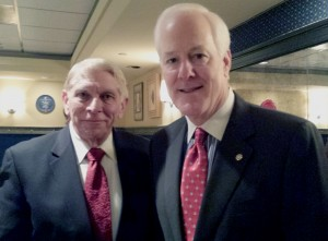 William J. Murray at a luncheon meeting with Senator John Cornyn of Texas (2014)