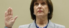 Former IRS operative Lois Lerner in her typical pose before Congress -- pleading the Fifth.