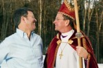 "Retired ""gay"" priest Gene Robinson and his ""husband"" Mark Andrew."