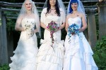 "A trio of lesbians got ""married"" last August in Massachusetts."
