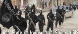 Islamic terrorists marching victoriously through a city in Iraq.