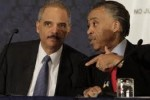 """Rev"" Al Sharpton giving marching orders to Eric Holder"