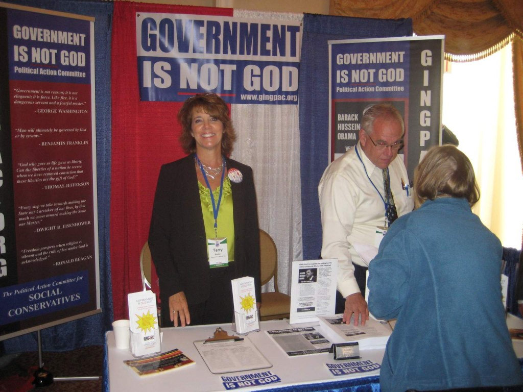 GING-PAC booth at Values Voters Summit