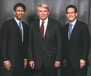 Governor Jindal, GING-PAC chairman William and Leader Eric Cantor at an event in Virginia